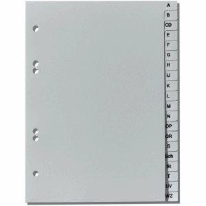 Herlitz Register A5 A-Z Kunststoff PP 20-teilig grau -