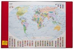 Idena 350105 - Schreibunterlage Weltkarte -