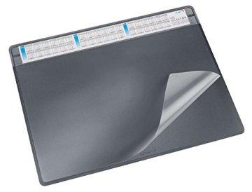 Läufer 47656 Schreibunterlage Durella Soft mit Kalender, 65 x 50 cm, schwarz -
