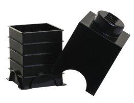 Lego Aufbewahrungsbox - 1 Nieten, Schwarz -