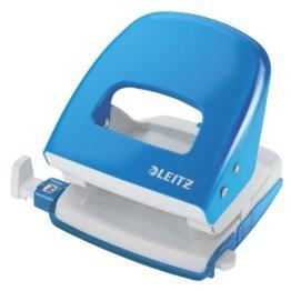 Leitz 50080030 Bürolocher NeXXt Series, Metall, 30 Blatt, hellblau -