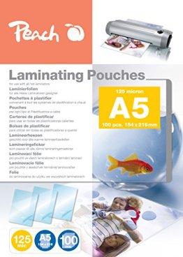 Peach PP525-03 Laminierfolien A5, 125 mic, 100 Stück -