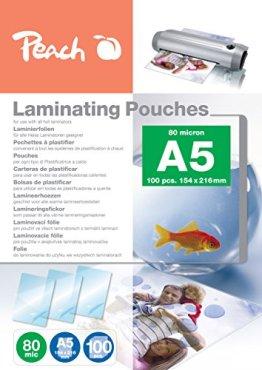 Peach PP580-03 Laminierfolien A5, 80 mic, 100 Stück -