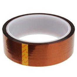 QHGstore 3cm hitzebeständige Klebeband Hochtemperatur Glasfaser Klebeband mit Klebstoff -