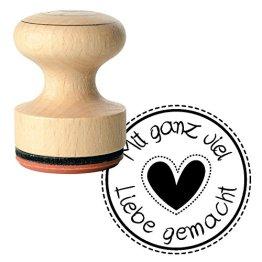 """Rayher Hobby 28855000 Stempel """"Mit Liebe"""", Durchmesser 3 cm -"""