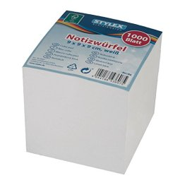 Stylex 43607 Notizwürfel mit weißem Papier -
