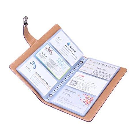 Visitenkartenmappe Visitenkartenbuch Leder Mit Metallverschluss Für Unternehmer Büro 240 Cell Grau