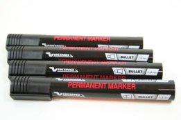 12 Stück VIKING Permanentmarker 1 bis 3 mm SCHWARZ Colli Marker -