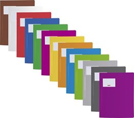 13 Schnellhefter Hartfolie extra stark 0,6mm stabil farbig sortiert Brunnen -