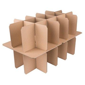 600 Gläserkartons mit 15 Fächern Flaschenkartons für Umzug Verpackung Umzugskartons -