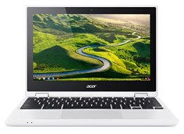 Acer Chromebook R 11 (CB5-132T-C9Z7) 29,5 cm (11,6 Zoll HD) Convertible Notebook (Intel Quad-Core N3150, 4GB RAM, 32GB eMMC, Google Chrome OS) weiß -