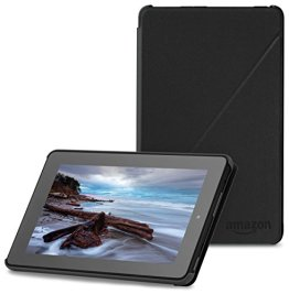 Amazon Hülle für Fire (7-Zoll-Tablet, 5. Generation - 2015 Modell), Schwarz -