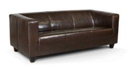 B-famous 3-Sitzer Sofa Kuba 186 x 88 cm, Kunstleder, braun -