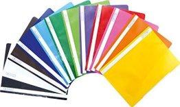 Brunnen Schnellhefter Kunststoff - GROßPACK bunt - 12 Stück bzw. Farben im Pack -