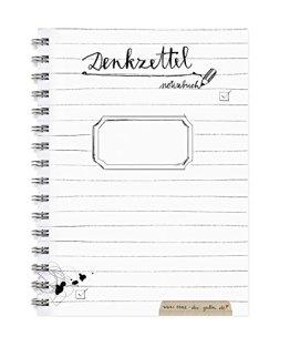 Denkzettel, Kleiner Notizblock A6, Notizbuch mit To-Do-Liste & Blanko-Seiten im schönen Kalligrafie Design Schwarz Weiß, perfekt für den Adventskalender! -