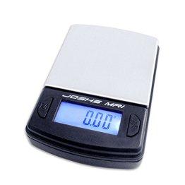 Digitalwaage Feinwaage die in 0,01 g Schritten präzise bis 100g wiegt, Taschenwaage, Briefwaage, Goldwaage, Tischwaage mit Edelstahl Wiegefläche -