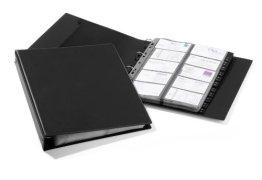 Durable 244401 Visitenkartenringbuch Visifix A4 Economy, für 400 Visitenkarten, schwarz -