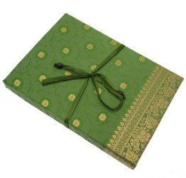 Fair Trade Briefpapier-Set Sari 170 x 230 mm - grün -
