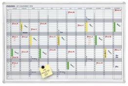 Franken JK703 Jahresplaner 12 Monate 60 x 90cm, weiß -