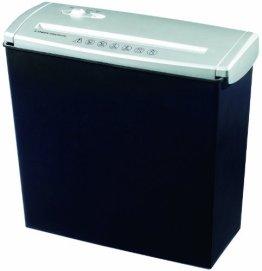 Genie 500 SB Aktenvernichter (bis zu 5 Blatt, Streifenschnitt, Inkl. ausziehbarem Teleskoparm, Inkl. Papierkorb) schwarz / silber -