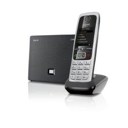 Gigaset C430 IP Hybrid-Dect - Schnurlostelefon, analog und VoIP (ALL-IP), schwarz -