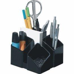 HAN 17450-13 Schreibtisch-Köcher SCALA, mit 4 Fächern und Kartenständer, schwarz -