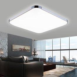 Hengda® 18w LED Deckenleuchte Alu-matt Panel Badleuchte Kaltweiss Markantes Design IP44 -