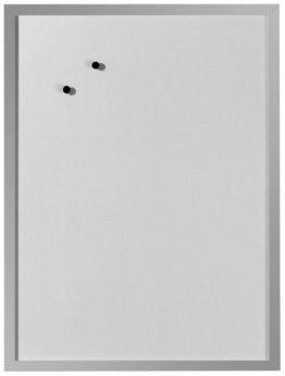 Herlitz 10524627 Whiteboard und Magnettafel (silbernen Holzrahmen, 40 x 60cm) weiß -