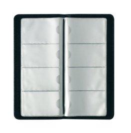 Herlitz 5505011 Visitenkartenmappe für 128 Karten, schwarz -
