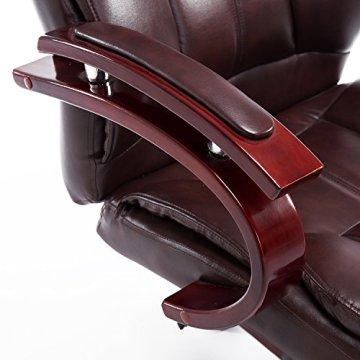 Homcom® Bürosessel Bürostuhl Drehstuhl Chefsessel Sessel Schreibtischstuhl Stuhl Büro (braun) -