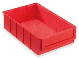 Industriebox Lagerbox Lagerkasten Universalbox 300x183x81mm rot -