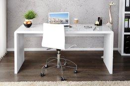 Invicta Interior 15806 Fast Trade Schreibtisch hochglanz 120 cm, weiß -