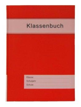 Klassenbuch Standard mit rotem Umschlag, für alle Schulformen - 11 Unterrichtsstunden/Tag -