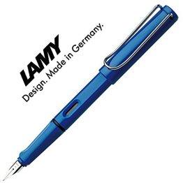LAMY Füller SAFARI Füllhalter / Viele schöne Farben, auch im Set mit Tintenpatronen wählbar (Ohne Tintenpatronen, Blau (M)14) -