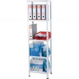 LC Regal Büroregal 170x45x30 cm weiß 5 Böden -