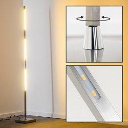 LED Stehlampe Wien Farbe silber über integrierten Tastdimmer schalt- und dimmbar -
