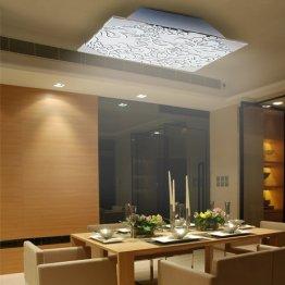 Lu-Mi® Deckenleuchte Wohnzimmer Designleuchte Deckenlampe Küchen Schlafzimmer Modern (Flora Kvader CG1) -