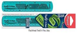 Maped Flachlineal Twist'n Flex, 150 mm / 15 cm , unzerbrechlich, transparent (Blau) -