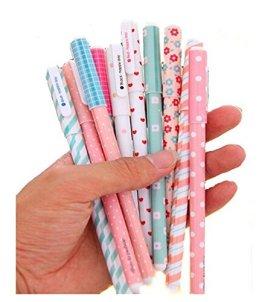 MFEIR® Korean Schreibwaren schöne Gelstift Gelschreiber Gelstifte Set Minen 10 Farben,10stk -