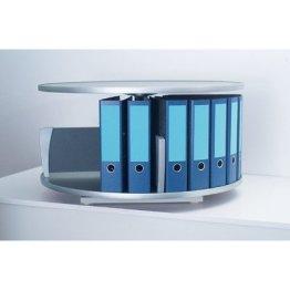 Moll Ordnerkarussel Rotafile Tischgerät 1 Etage bis 24 Ordner, graphit, 488401 -