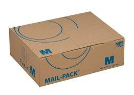 NIPS 141312162 MAIL-PACK® BASIC M (Post-)Versandkarton, 330 x 250 x 110 mm, 20 Stck. gebündelt, braun/blau -