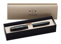 Parker S0949150 Urban Premium-Füllfederhalter (mattschwarz mit glänzenden Akzenten, mittlere Feder) -
