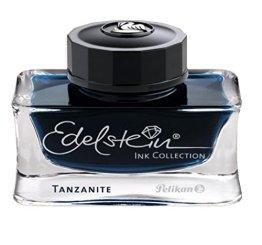 Pelikan 339226 Tinte Edelstein Ink Tanzanite Tinte, 50 ml, 1 Stück, blau/schwarz -