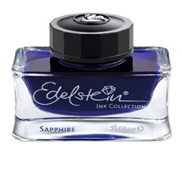 Pelikan 339390 Tinte Edelstein Ink Sapphire 50 ml Tinte, 50 ml, 1 Stück, blau (weitere Farb-Variationen verfügbar) -