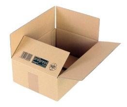 progressCARGO Wellpapp-Faltkarton PC K10.02, 1-wellig, DIN A4, 304 x 217 x 110 mm, 20-er Pack, braun -