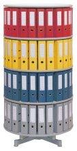 reef R2100B6 Ordnersäule 100 cm durchmesser, 6 Etagen gesamtdrehbar, grau -