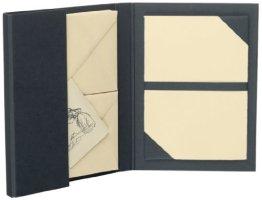 Rössler 1026222204 - Briefpapiermappe A5/C6, 15 Stück, chamois -