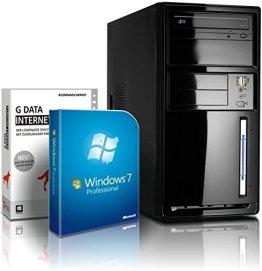 shinobee Flüster-PC Quad-Core Office/Multimedia PC Computer mit 3 Jahren Garantie! inkl. Windows7 Professional - INTEL Quad Core 4x2.41 GHz, 4GB RAM, 320GB HDD, Intel HD Graphics, HDMI, VGA, DVD±RW, Office, USB 3.0 #4840 -