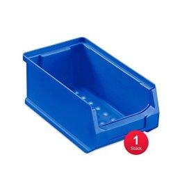 Sichtlagerbox 2.0, blau, Abm. 175x100x75mm (TxBxH) - Kunststoff Lagerboxen Stapelboxen Lagerkasten Lagerbox Lagerkästen Lagerkisten Lagersichtkästen mit Deckel Sichtbox Sichtlagerkästen Stapelbox Stapelkisten -