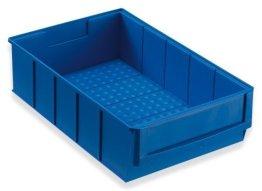 Stapelkiste Lagerkiste Lagerbox Universalbox Industriebox Lagerkasten Kunststoffbox Kunststoffkiste Aufbewahrungskiste Universalkiste 300x183x81mm blau -